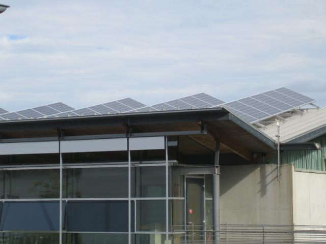 PV-Anlage Dach Are Gymnasium
